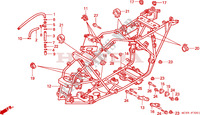 CARROSSERIE DE CHASSIS Chassis 300 honda-moto FOURTRAX 1995 F__3001