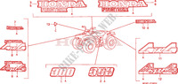 MARQUE/EMBLEME Chassis 300 honda-moto FOURTRAX 1995 F__3402