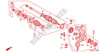 ARTICULATION pour Honda FOURTRAX 450 FOREMAN 4X4 Electric Shift 1999