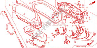 COMPTEUR Chassis 250 honda-moto NX 1988 F__0200