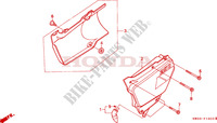COUVERCLE LATERAL Chassis 250 honda-moto NX 1988 F__1500