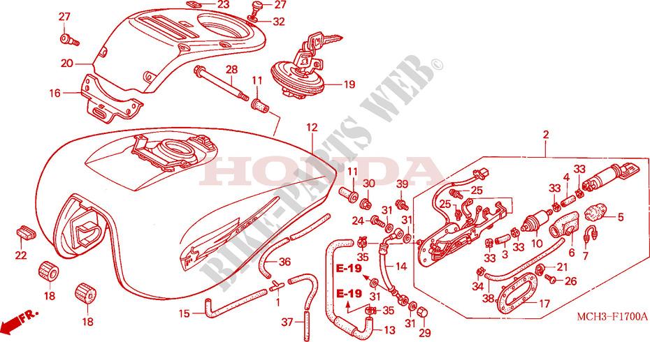 Bomba de gasolina Pompe à essence Honda VTX1800 VTX 1800 2002-2004 16700-MCH-023