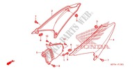 COUVERCLE LATERAL ('06-'11) Chassis 150 honda-moto CRF 2008 F_13_1