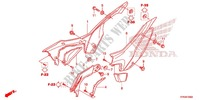 COUVERCLE LATERAL pour Honda CRF 110 2013