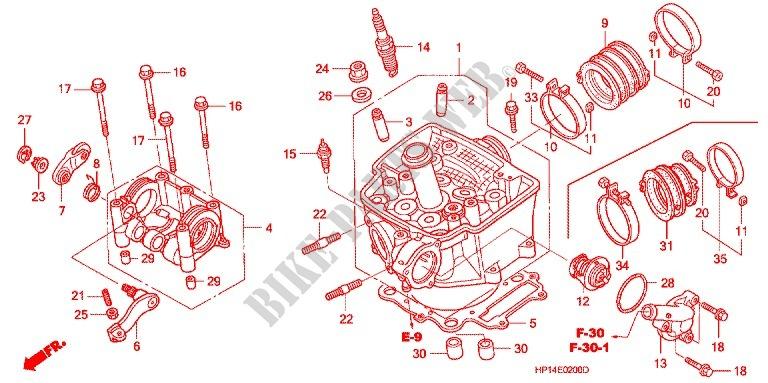 CULASSE pour Honda TRX 450 R SPORTRAX Electric Start 2006 ...
