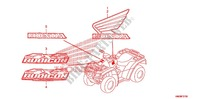 EMBLEME/MARQUE Chassis 500 honda-moto FOURTRAX 2010 F_37