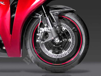 Rims candy glory red  stickers set HONDA RACING-Honda
